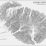 Banks Peninsula Vintage Terrain Map