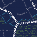 Christchurch Street Typography Map - A2 Poster Print