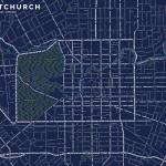 Christchurch Street Typography Map