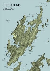 D'Urville Island Terrain Map
