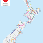 New Zealand State Highway Metro Map - Poster Print