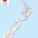 New Zealand State Highway Metro Map Print