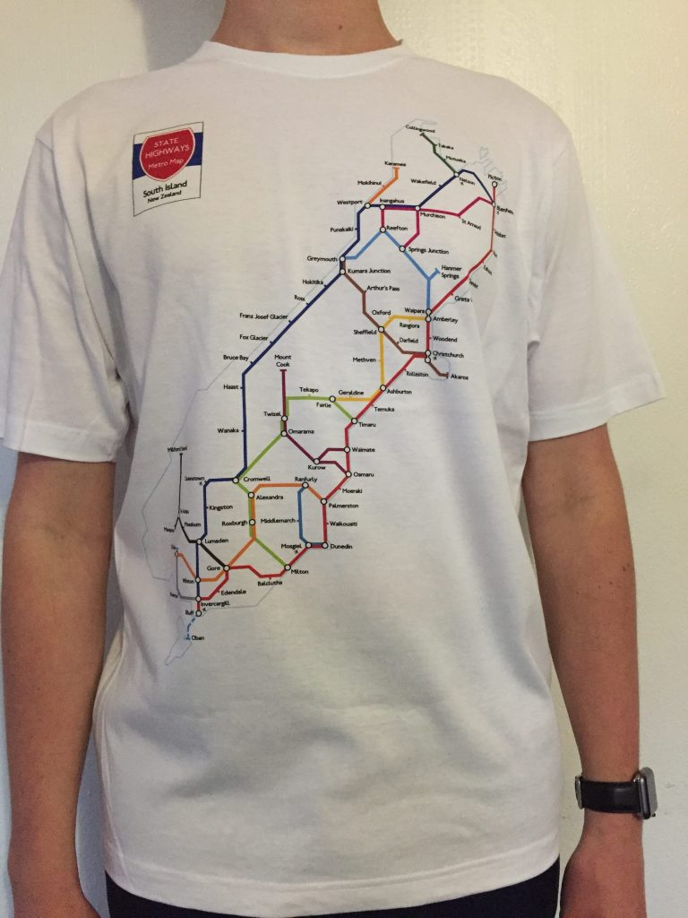 South Island Metro Map T-Shirt