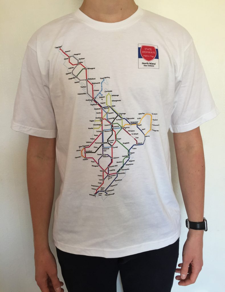 North Island Metro Map T-Shirt