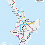 North Island Metro Map - Poster Print