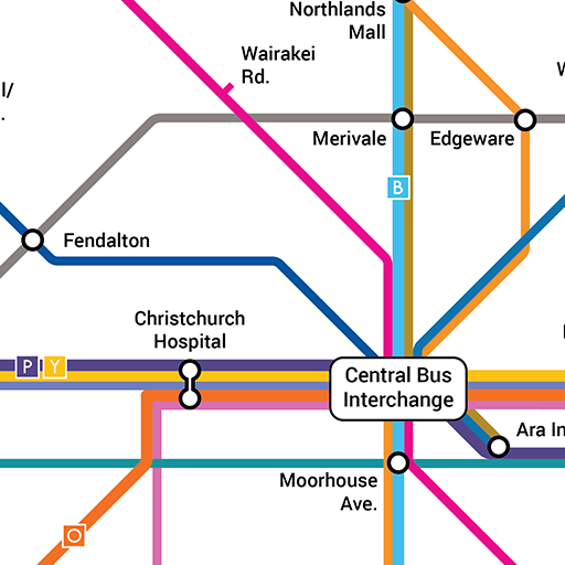 Metro Christchurch Bus Network Map