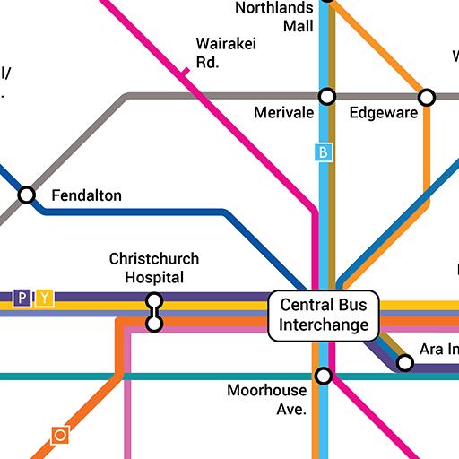 Metro Christchurch Bus Network Map