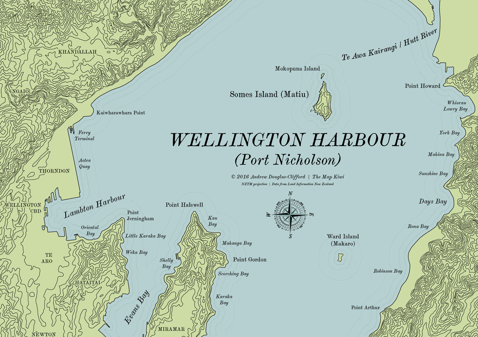 Where Is Wellington New Zealand On The Map.Wellington Harbour Map