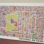 Christchurch Map Postcard (Singles)