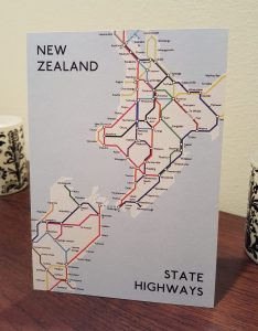NZ Metro Map Postcard (Singles)