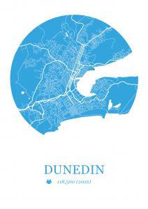 Dunedin Map Dot Print