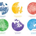 New Zealand Cities - Map Dot Designer Prints