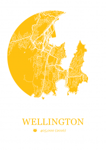 Wellington Map Dot Print