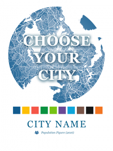 Choose Your City - Custom Map Dot Print