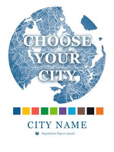 Choose Your City - Custom Map Dot Print