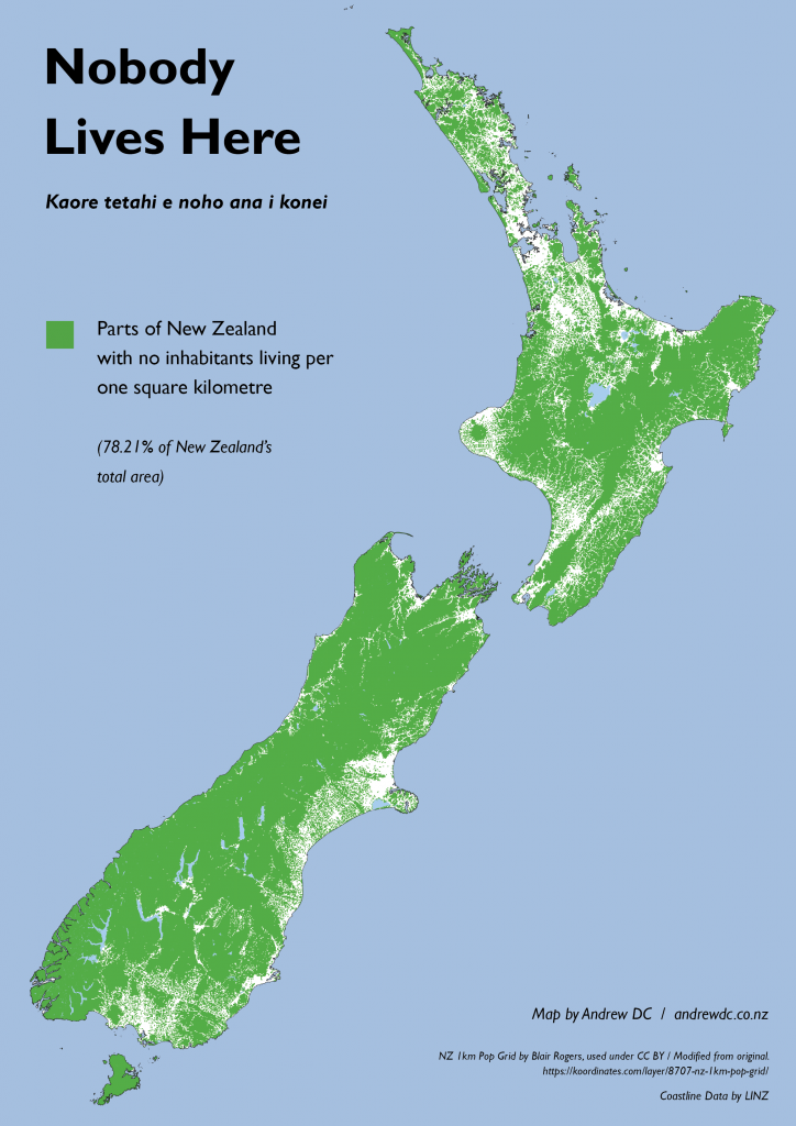 Nobody Lives Here Uninhabited Areas of New Zealand The Map Kiwi
