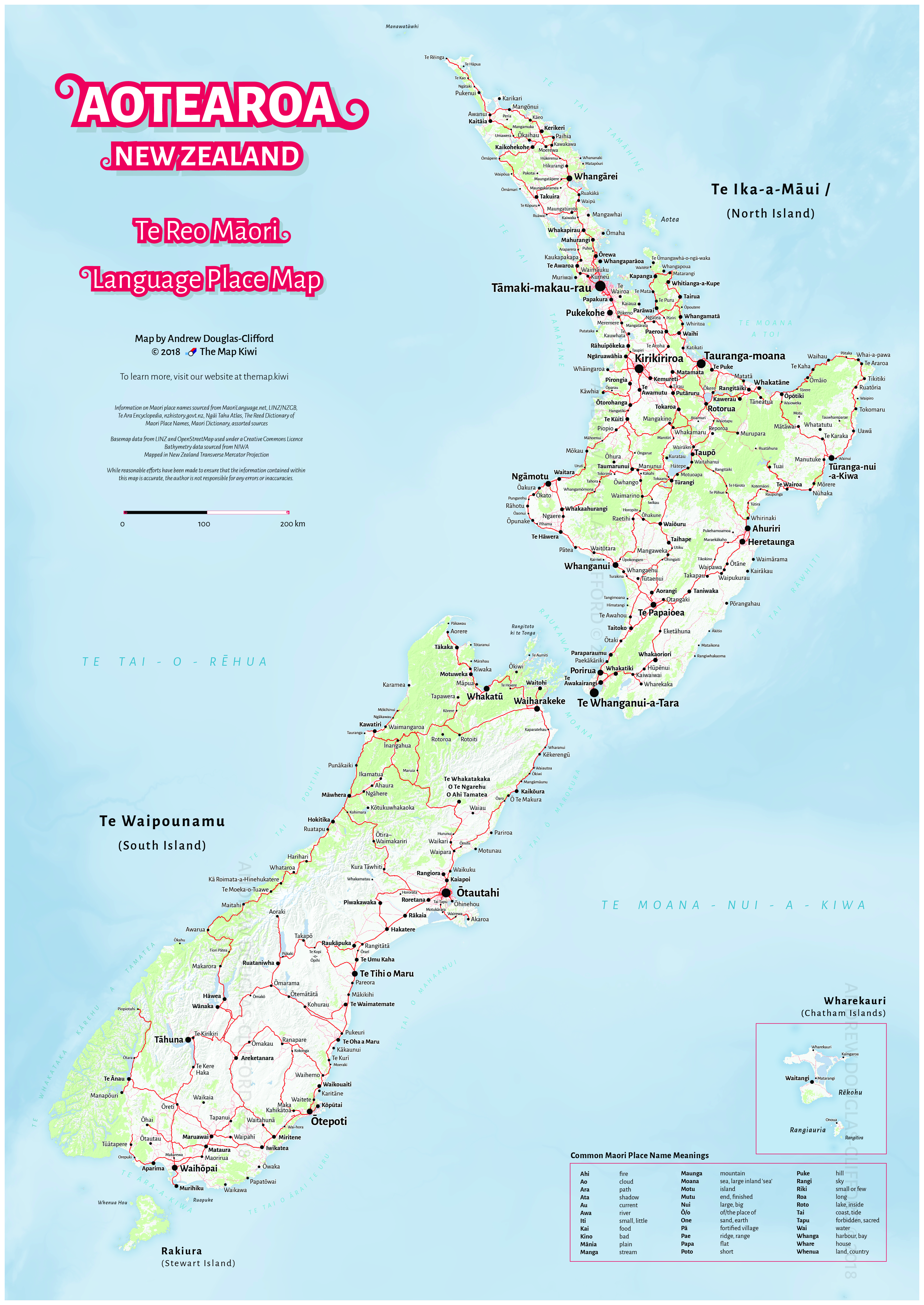 New Zealand Road Map.The Map Kiwi Store New Zealand Maps By Andrew Douglas Clifford