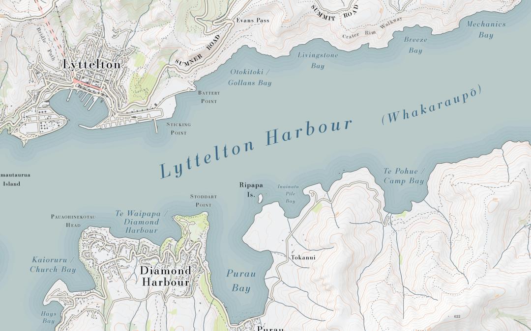 Lyttelton Harbour Topo Map