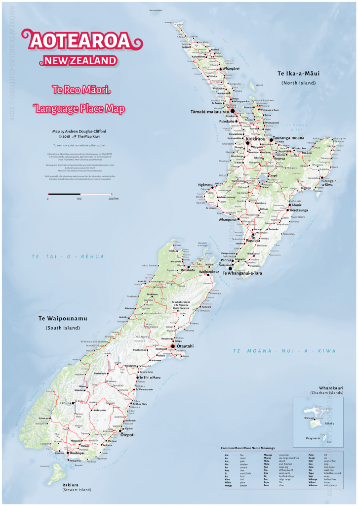 This is a photo of Sly Printable Map of New Zealand