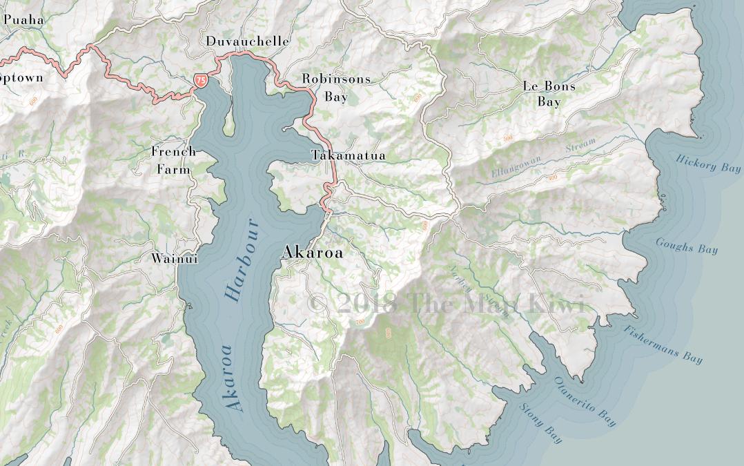 Banks Peninsula Terrain Map