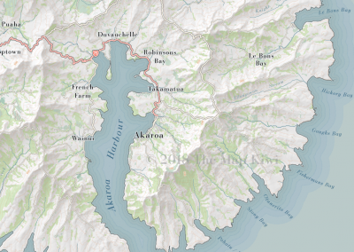 Banks Peninsula Terrain Map