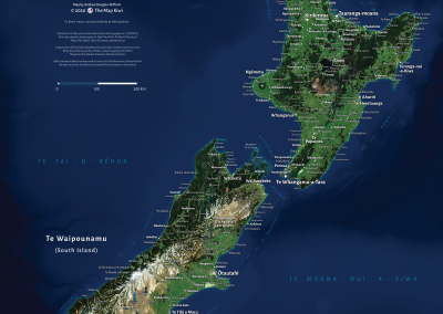 Te Reo Māori Satellite Basemap