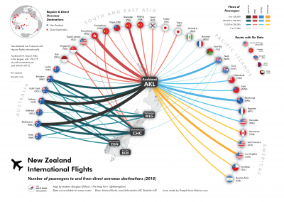 International Flights to and from New Zealand