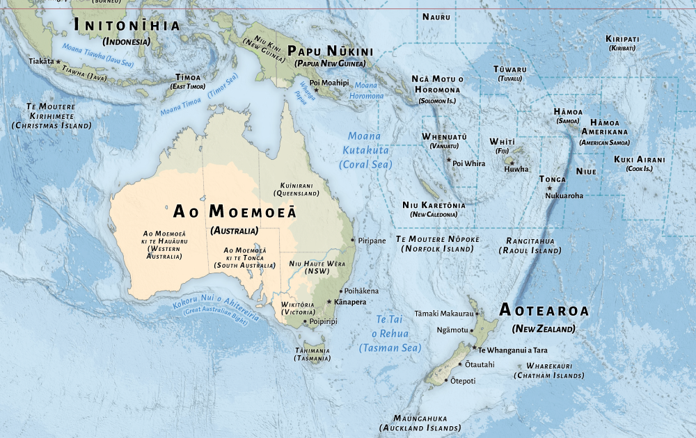 Countries of the World in Te Reo Māori