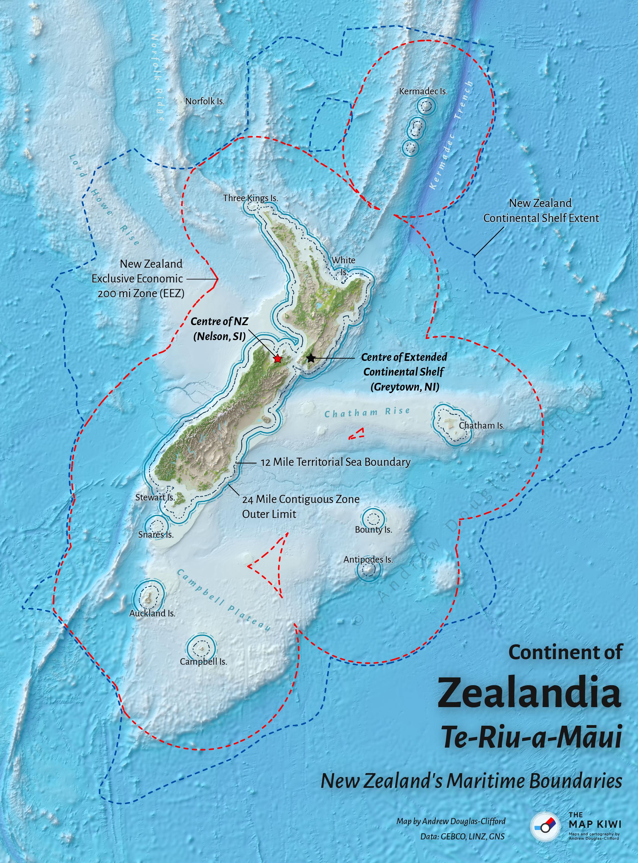 Continent of Zealandia (Te Riu a Māui)