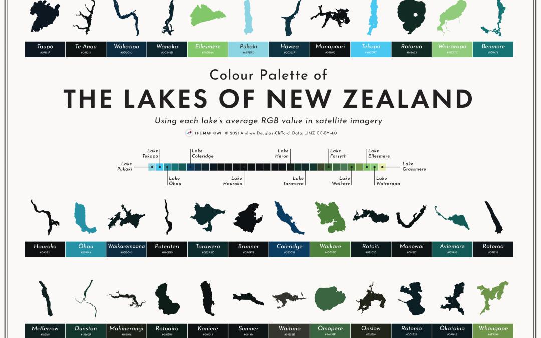 New Zealand Lakes Colour Palette
